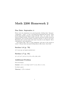 Math 2200 Homework 2 Due Date: September 4