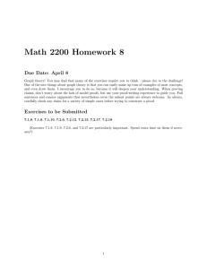 Math 2200 Homework 8 Due Date: April 8