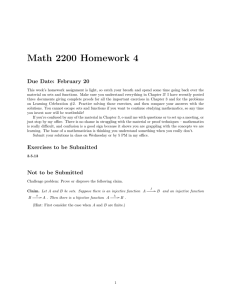 Math 2200 Homework 4 Due Date: February 20