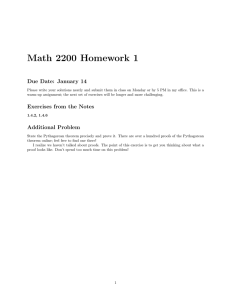 Math 2200 Homework 1 Due Date: January 14