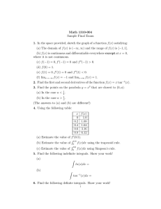 Math 1310-004 Sample Final Exam