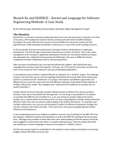 Munich Re and ESSENCE – Kernel and Language for Software