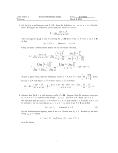 Math 3210 § 1. Second Midterm Exam Name: Solutions