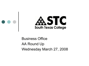 Business Office AA Round Up Wednesday March 27, 2008