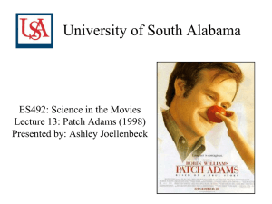 University of South Alabama ES492: Science in the Movies