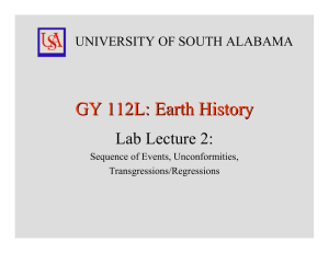 GY 112L: Earth History Lab Lecture 2: UNIVERSITY OF SOUTH ALABAMA
