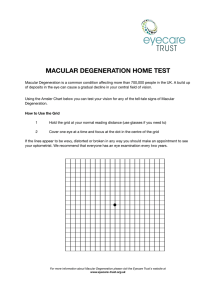 MACULAR DEGENERATION HOME TEST