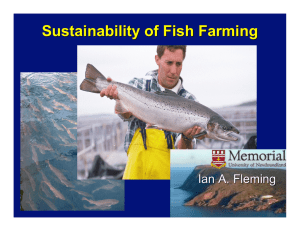 Sustainability of Fish Farming Ian A. Fleming