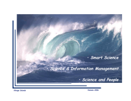 • Smart Science  Science & Information Management