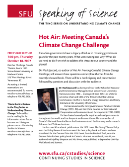 Speaking of Science Hot Air: Meeting Canada's Climate Change Challenge