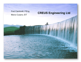 CREUS Engineering Ltd Fred Ciambrelli, P.Eng. 