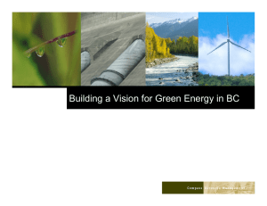 Building a Vision for Green Energy in BC