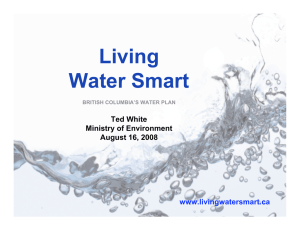 Living Water Smart Ted White Ministry of Environment