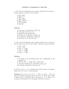 Solutions to Assignment 6, Math 220 1