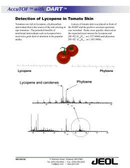 AccuTOF with DART Detection of Lycopene in Tomato Skin