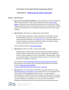 Draft Climate Assessment Report  National Ground Water Association