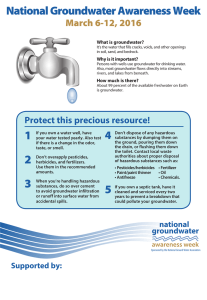 National Groundwater Awareness Week March 6-12, 2016