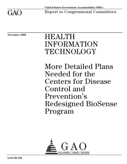 GAO HEALTH INFORMATION TECHNOLOGY