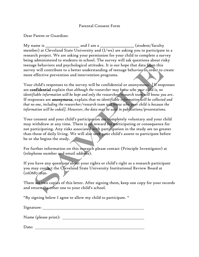 Parent Letter Of Consent from s2.studylib.net