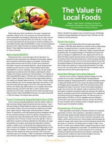 The Value in Local Foods