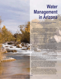 Water Management in Arizona