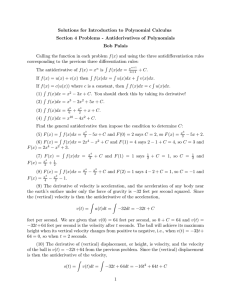 Solutions for Introduction to Polynomial Calculus Bob Palais
