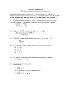 Math4010 Problem Set 6 Due date:  _________________________________