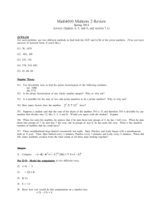 Math4010 Midterm 2 Review Spring 2014