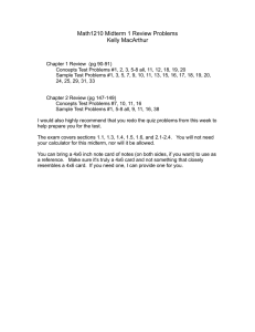 Math1210 Midterm 1 Review Problems Kelly MacArthur