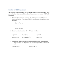 Practice for 2.2 Polynomials
