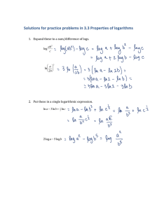 Solutions for practice problems in 3.3 Properties of logarithms