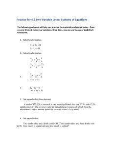 Practice for 4.2 Two-Variable Linear Systems of Equations