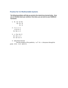 Practice for 4.3 Multivariable Systems
