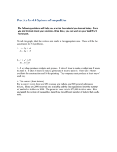 Practice for 4.4 Systems of Inequalities
