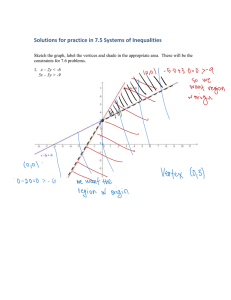 Solutions for practice in 7.5 Systems of Inequalities