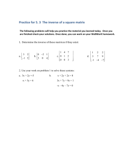 Practice for 5. 3  The inverse of a square...