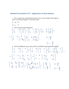 Solutions for practice in 5.5  Applications of determinants.