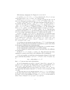 5010 solutions, Assignment 10. Chapter 6: 2, 3, 6, 10,... 2. (a) G(s) = (s + s + s
