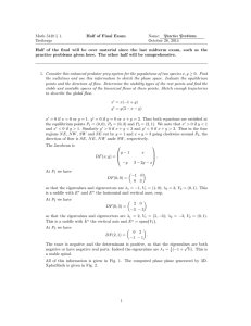 Math 5410 § 1. Half of Final Exam Name: Practice Problems