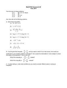 Math5700 Homework #2 Fall, 2014