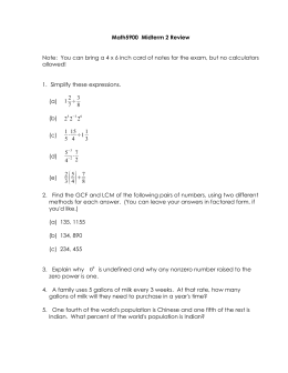 Math5900  Midterm 2 Review allowed! 1.  Simplify these expressions.