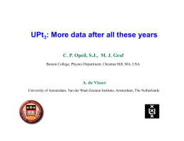 UPt : More data after all these years