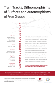 Train Tracks, Diffeomorphisms of Surfaces and Automorphisms of Free Groups A