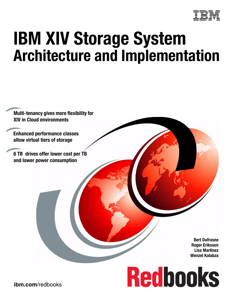 IBM XIV Storage System Architecture and Implementation Front