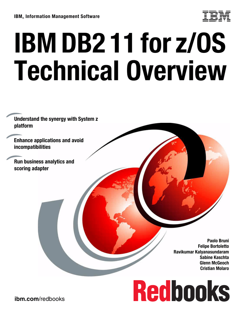 IBM DB2 11 for z/OS Technical Overview Front cover