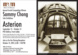 Asterion Sammy Chong Annual Juried Competition Winner Solo Exhibition