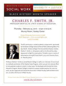 CHARLES F. SMITH, JR. Thursday February 25, 2016