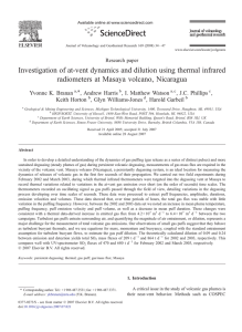 Investigation of at-vent dynamics and dilution using thermal infrared