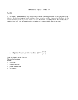MATH1100 – QUIZ 6 MAKE UP NAME: