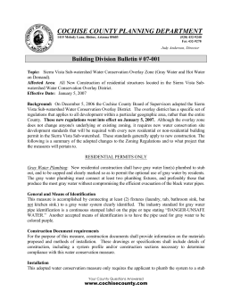 COCHISE COUNTY PLANNING DEPARTMENT Building Division Bulletin # 07-001